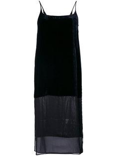 бархатное платье на тонких лямках Cédric Charlier