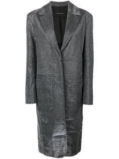 длинное пальто с блестками Cédric Charlier