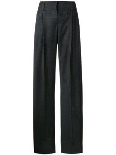 брюки в клетку виши со складками Cédric Charlier