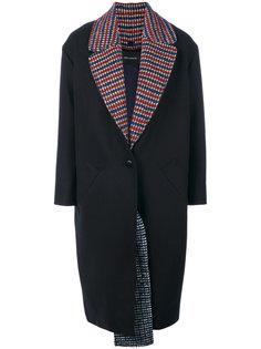 пальто с контрастной подкладкой Cédric Charlier