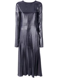 удлиненное платье из крепдешина Cédric Charlier