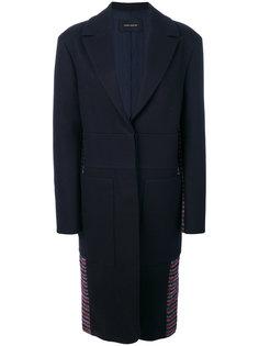пальто с деталями в мелкую клетку на спине Cédric Charlier