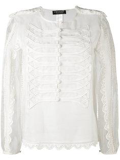 прозрачная блузка с лямками на плечах Twin-Set