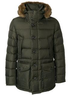 пуховое пальто с капюшоном Moncler