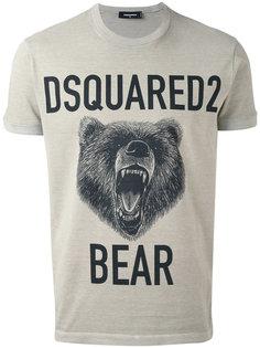 футболка с принтом медведя Dsquared2