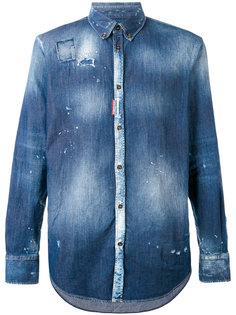 джинсовая рубашка тай-дай Dsquared2