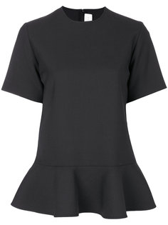 блузка с баской и короткими рукавами Victoria Victoria Beckham