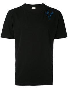 футболка с вышивкой логотипа Saint Laurent