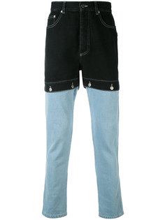 джинсы с контрастными панелями Christopher Shannon