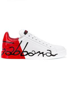 кроссовки дизайна колор-блок Dolce & Gabbana