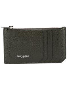 кошелек-визитница с логотипом Saint Laurent