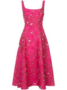 платье с цветочной вышивкой Lela Rose