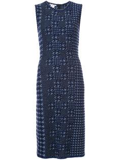 платье без рукавов с вышивкой Oscar de la Renta