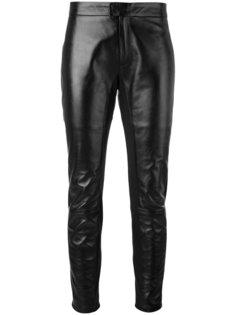 укороченные кожаные брюки Red Valentino