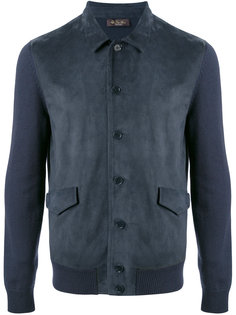 куртка-бомбер с контрастными рукавами Loro Piana