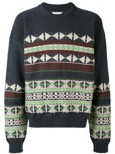 свитер с узорами в технике интарсия Maison Margiela