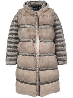 дутое пальто Astrea с отделкой мехом норки Cara Mila