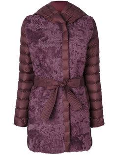 пальто-пуховик Debra с поясом Cara Mila