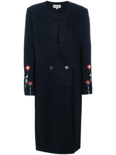удлиненное пальто строгого кроя Creek Temperley London