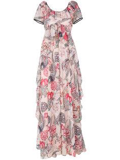 вечернее платье с рисунком Temperley London