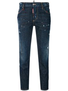 укороченные прямые джинсы  Dsquared2