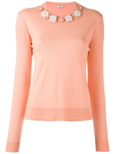 свитер с цветочной вышивкой Fendi