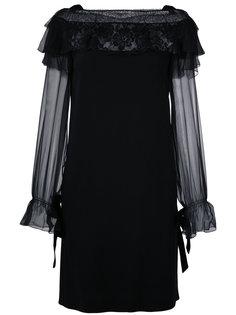 платье с кружевной оторочкой Alberta Ferretti