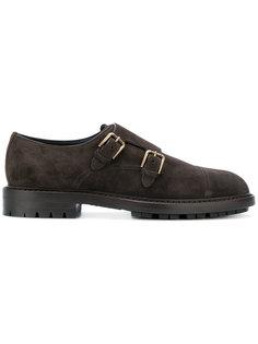 замшевые туфли с пряжками по бокам Dolce & Gabbana