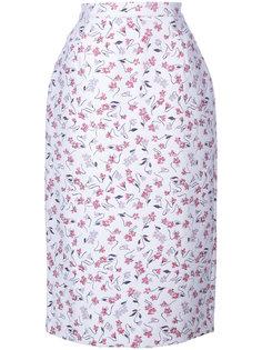 юбка-карандаш с цветочным узором Altuzarra
