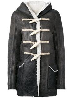 куртка с капюшоном и крупными пуговицами Rick Owens