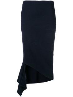 приталенная юбка с драпировкой  Victoria Beckham