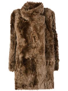 пальто с драпировкой  Meteo By Yves Salomon