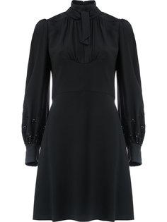 расклешенное платье с вырезом лодочкой  Chloé