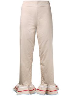 укороченные брюки с расклешенным подолом Anna October