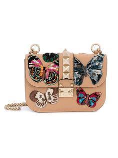 сумка через плечо с бабочками Valentino Garavani Glam Lock Valentino