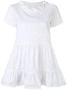 блузка с оборками на подоле Mm6 Maison Margiela