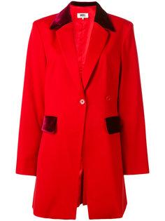 пиджак с бархатными вставками Mm6 Maison Margiela