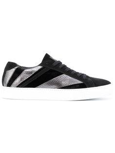контрастные кроссовки на шнуровке Just Cavalli
