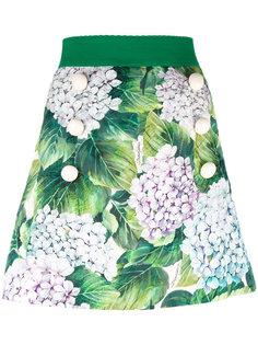 шорты с веточным принтом Dolce & Gabbana