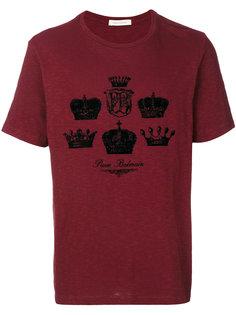 футболка с принтом короны Pierre Balmain