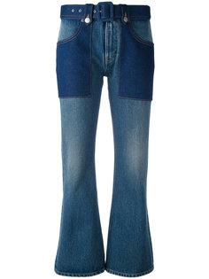расклешенные укороченные джинсы Mm6 Maison Margiela