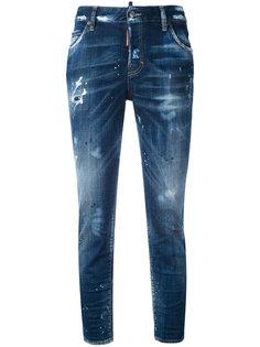 прямые рваные джинсы Dsquared2