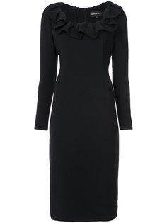 приталенное платье с оборками Christian Siriano