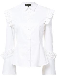 рубашка с оборками Christian Siriano