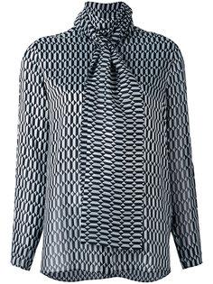 блузка с геометрическим узором Fendi