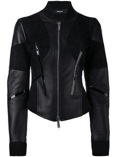 мотоциклетная куртка приталенного кроя Dsquared2