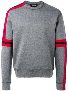 свитер с асимметричными полосками Dsquared2