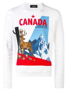 толстовка с принтом канадского лося Dsquared2