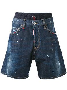 джинсовые шорты свободного кроя Dsquared2