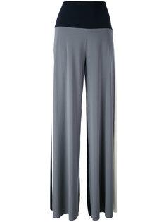 трехцветные брюки-палаццо Norma Kamali